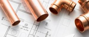 Copper pipes for plumbing